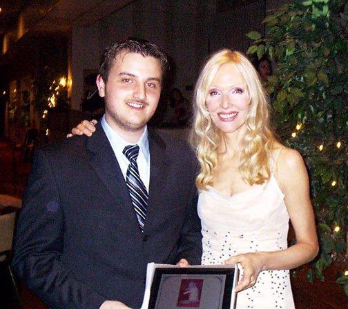 Andrew with Caroline Scott